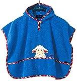Morgenstern, hochwertiger Frottee - Bade - Poncho aus 100 % Baumwolle, Farbe blau, Motiv Schaf, Größe one size (ca. 1 bis 3 Jahre)