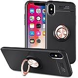 Slynmax Coque iPhone X Or Rose Bague Étui iPhone X Housse de Protection Case Mince...