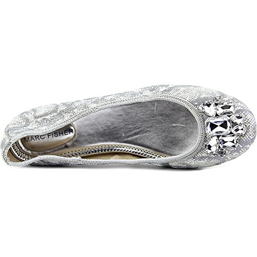 Marc Fisher Cadassi 3 Femmes Toile Chaussure Plate silver