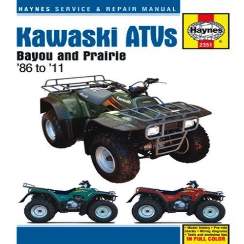 Kawasaki Bayou 220/300 & Prairie 300 ATVs, '86-'11 (Haynes Service & Repair Manual) by Alan Ahlstrand (2012-09-01)