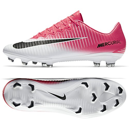 Nike Herren Mercurial Vapor Xi Fg Fußballschuhe, Rot (Racer Pink/Black White White), 41 EU (Racer Vapor)