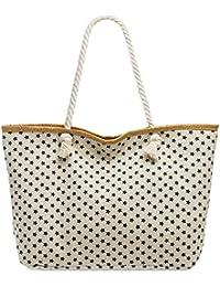 CASPAR TS1052 XL Bolso de Playa para Mujer/Bolso de Mano Shopper con Estampado de
