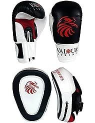 14 oz guantes de boxeo y enfoque almohadillas y#x2605; Gancho manoplas de artes marciales entrenamiento de lucha Muay Thai y Kickboxing Boxercise - valor huelga