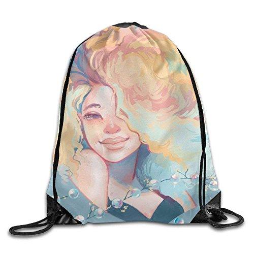 (tianjianzulinyouxiangongsi Sexy Curly Hair Girl Drawstring Backpack Rucksack Shoulder Bags Training Gym Sack for Man and Women)