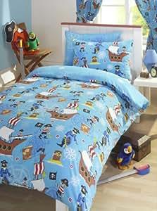 bettw sche jungen piraten doppelbett bettbezug kopfkissen polycotton set k che. Black Bedroom Furniture Sets. Home Design Ideas