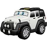 BB Junior Jeep Touch and Go: Spielzeugauto Jeep Wrangler Unlimited mit Motorengeräuschen, fährt auf Knopfdruck los, ab 12 Monaten, weiß (16-81801)