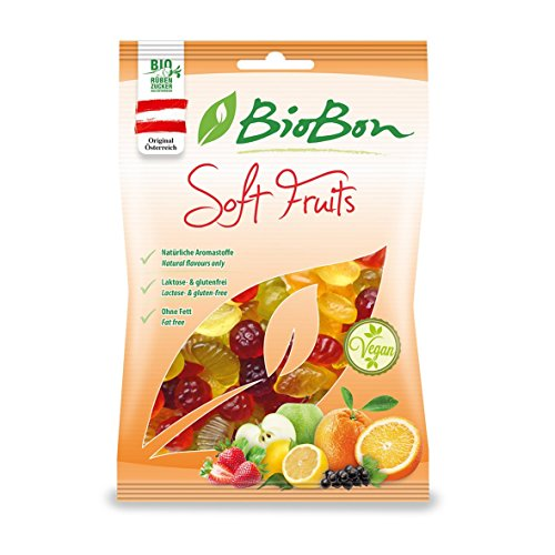 Biobon Bio-Fruchtgummis Soft Fruits 10x100g Beutel, VEGAN