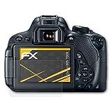 atFoliX Schutzfolie für Canon EOS 700D / Rebel T5i Displayschutzfolie - 3 x FX-Antireflex blendfreie Folie