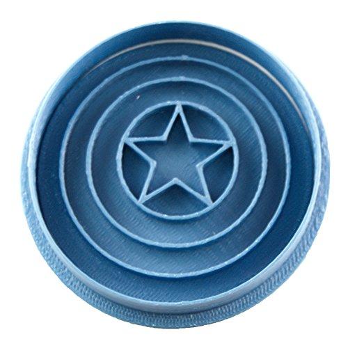 Cuticuter Superhelden Capitan America Wappen Ausstechform, Blau, 8x 7x 1.5cm