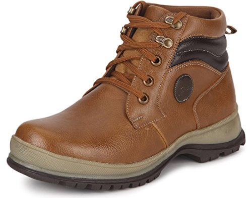 Escaro Men's Tan Casual Lace Up Boots (ES2062BK_TAN_10)