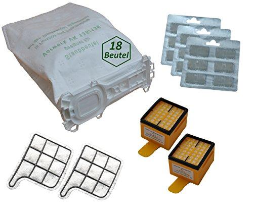 40 tlg. SET geeignet für Vorwerk Kobold Kobold 135 / 136 / 135SC / VK135 / VK136 / 135SC 18 Beutel 18 Duftblock 2 Hygienefeinfilter 2 Motorschutzfilter
