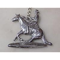 Reining cavallo portachiavi in metallo lucido