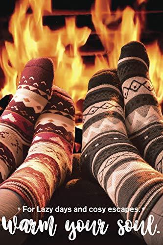 HEAT HOLDERS Hombre Invierno Calientes Calcetines Estar por Casa