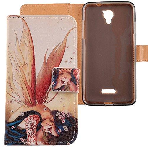 Lankashi PU Flip Leder Tasche Hülle Case Cover Schutz Handy Etui Skin Für CoolPad E501 Modena 5.5