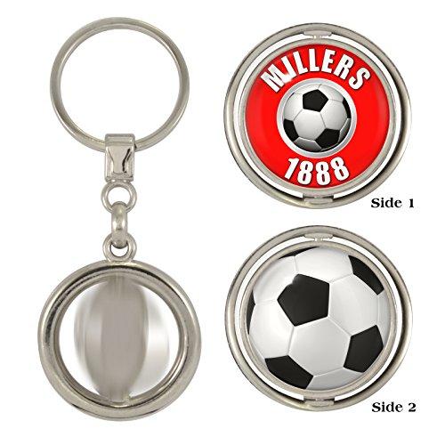 1StopShops Millers 1888   Football 2-Sided Spinner Keyring