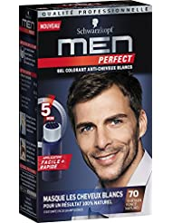 Schwarzkopf Men Perfect - Gel Colorant Anti-Cheveux Blancs - Châtain Foncé Naturel 70