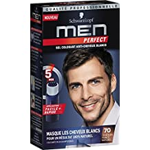 schwarzkopf men perfect gel colorant anti cheveux blancs chtain fonc naturel 70 - Coloration Barbe Grande Surface