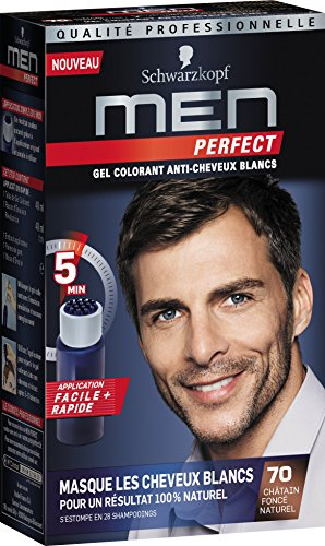Schwarzkopf – Men Perfect – Gel colorante anti-cheveux bianchi – Castano  Scuro Naturale 70 df733ff11cc2
