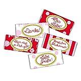 5 mal Mini Schokolade SÜSSE GRÜSSE STEINBECK Vollmilch Schokolade Tafel 5er Set Geschenk süß Mitgebsel Geburtstag Danke Alles Liebe Happy Birthday Freundin rosa