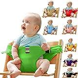 Baby-Essgurt Sicherheitssitz Mit Esstisch-Sicherheitsgurt Baby-Esstisch Zusatz Band,Green