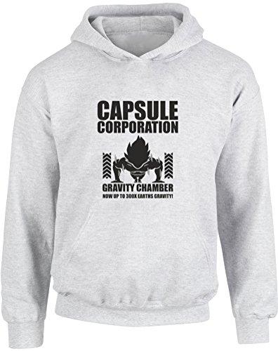 Capsule Corporation Gravity Chamber, Enfants Imprimé à capuche - Gris/Noir 12-13 Ans