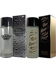 Parfums (2) Pack Premium pour homme. Rain Dance + The One Male 100ml chacune. Trois cadeaux au prix d'un.