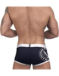 Tongshi Los hombres la ropa interior boxer calzoncillos boxer Calzoncillos (Negro, XXL)