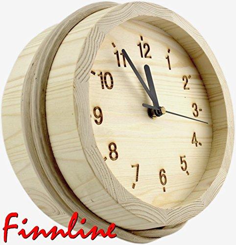 Preisvergleich Produktbild Finnline Kübeluhr für den Sauna-Vorraum oder das Gartenhaus I Sauna I Kübel I Saunauhr I Saunazubehör I Zubehör
