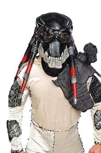 Predator Dlx Latex Maske Halloween Kostueme Maske Gesicht Maske Over-the-Head-Maske Kostuem Stuetze Scary Creepy Schreckliche Maske Latex Maske fuer Maskerade Make-up Party (Halloween-maske Predator)