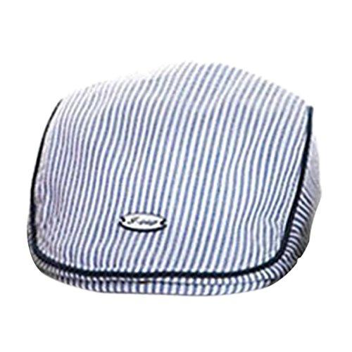 Transer ⭐️Räumungsverkauf⭐️Netter Jungen Baby Mädchen Kinderstreifen Barett Cap Erreichte Baseball Hut (Blue)