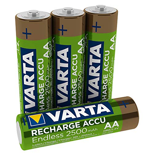 Varta Rechargeable Accu Endless Energy AA 2500 mAh Blister, 4er Pack -
