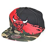 Mitchell & Ness Snapback Cap Paintbrush Chicago Bulls Camo Black