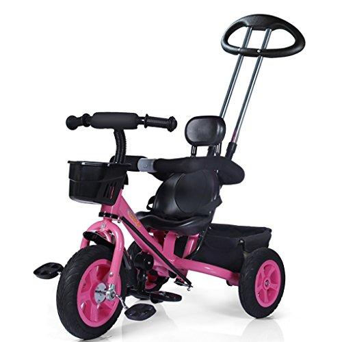 QWM-Baby Kinderfahrräder Männer und Frauen Baby 1-5-jährige dreirädrige Bike/Kinderspielzeug Pedal Kindergeschenk-QWM (Farbe : B)