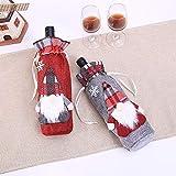 DAMENGXIANG Weihnachtsschmuck Weinflasche Tasche Santa Claus Jahr Weihnachten Home Dinner Party Decor (2 Teile/Satz)