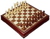 ATLT Belle en bois massif Échiquier, à haute teneur en bois Jeu d'échecs, adultes et pour enfants Cadeaux et Jeux de société (Large, Medium)