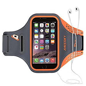 """Braccialetto in esecuzione, disegno banda impermeabile e riflettente, ideale per correre, andare in bicicletta, fare escursioni con il tuo iPhone, Samsung, HUAWEI e altri smartphone Fino a 5.7"""" 2 spesavip"""
