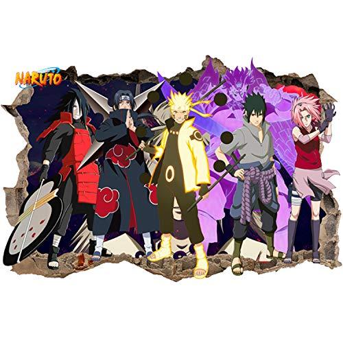 (JUNMAONO 3D Naruto Wandaufkleber/Wandgemälde/Wand Poster/Wandbild Aufkleber/Wandbilder/Wandtattoo/Pinupbild/Beschriftung/Pad einfügen/Tapete/Tapezieren/Tapeten/Wand Zeitung/Wandmalerei/Haftnotiz/Fühlen Sie sich frei zu kleben/Instant Aufkleber/3D-Stereo-Wandaufkleber (1))