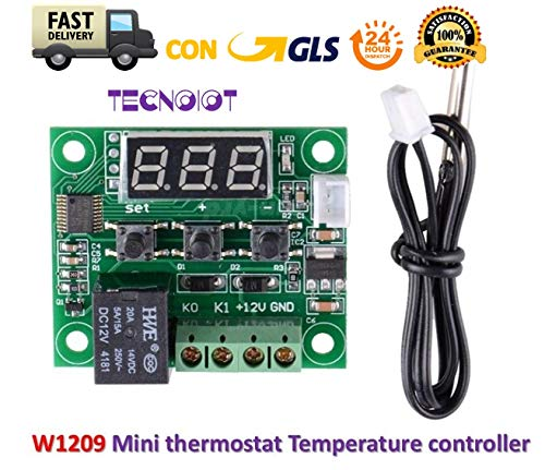 W1209 Digital Cool Heat temp Thermostat Thermometer Temperature Control DC12V |W1209 Digital Cool Thermostat Thermostat Temperaturregelung DC12V -