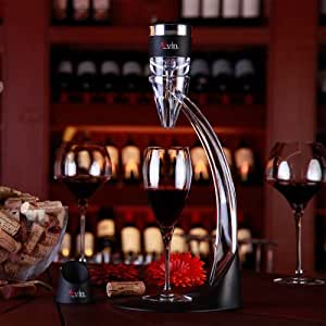 SVIN Red Wine Aerator Decanter Bouquet Taste Enhancer Full Set - Wine Aerator with Magic Cup,Base Support, Filter, Travelling Bag, Tower