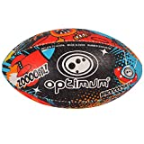 OPTIMUM Ballon de Rugby Dino City, DinoCity, Taille 4 Unisex-Adult, Multicolore, 4