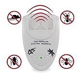 Ultraschall Schaedlingsvertreiber, emwel Innenbereich Professional Pest Control fuer Nagetier, Kakerlaken, Ratten, Ameisen, Spinnen, Muecken u