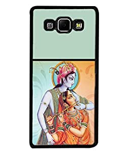 Fuson Designer Back Case Cover for Samsung Galaxy A8 (2015) :: Samsung Galaxy A8 Duos (2015) :: Samsung Galaxy A8 A800F A800Y (Love Krishnaji Radhe Spiritual Painted )
