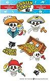Schaeffer-Marketing / 1011 - Piraten-Stark - STICKER! Selbstklebende Etiketten/Aufkleber sind zum...
