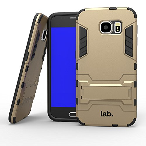 Labrador X1 Samsung Galaxy S6 slim back case cover matte finish with free Screen guard and Labrador® retail packaging (Champaign Gold)