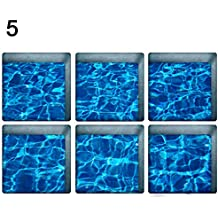 heDIANz - Pegatinas 3D para bañera, diseño de Peces Marinos