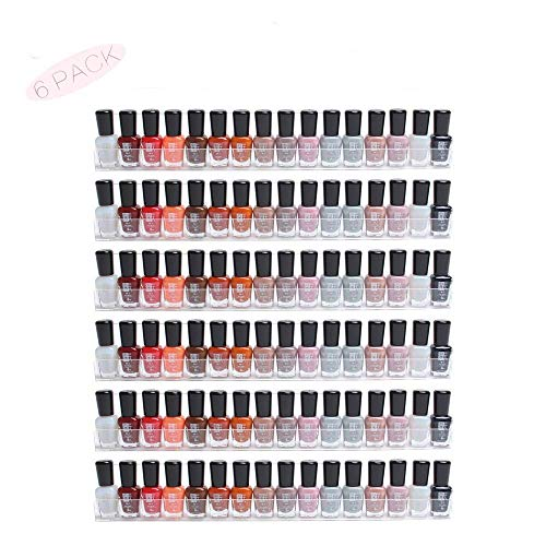 Pack de 6 expositores de acrílico transparente para esmaltes de uñas, con efecto flotante, organizador acoplado a la pared, de la marca Display4top