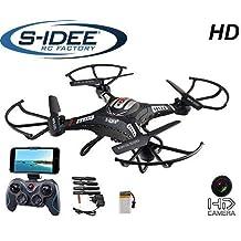 s-idee® 01540 Quadrocopter S183W HD KAMERA WIFI 4.5 Kanal 2.4 Ghz Drohne mit Gyroscope Technik DROHNE MIT WIFI FPV Drohne HD Kamera One Key Return Coming Home Funktion