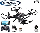 s-idee® 01540 Quadrocopter S183W HD Kamera WiFi 4.5 Kanal 2.4 Ghz Drohne mit Gyroscope Technik DROHNE MIT WiFi FPV Drohne HD Kamera One Key Return Coming Home Funktion
