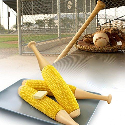 Novelty Baseball Bat Cob Holder Baseballschläger Maiskolbenhalter Maiskolben Forks Sticks (Baseball-themen-partei)