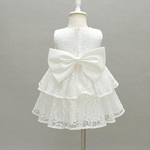 AHAHA Baby Mädchen Prinzessin Kleid Blumenmädchenkleid Taufkleid Festlich Kleid Hochzeit Partykleid Festzug Babybekleidung - 3